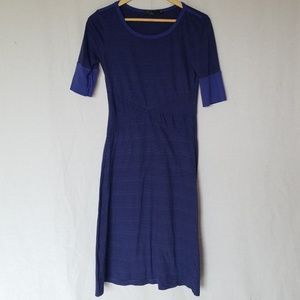 Prana striped purple half sleeve dress size small